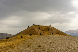 The Karakuş Tumulus is a funerary monument for Queen Isias and Princesses Antiochis and Aka I of Commagene, built by Mithridates II of Commagene in 30–20 BCE, in Kâhta, Adıyaman, Turkey