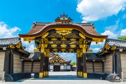The karamon main gate to Ninomaru Palace at Nijo Castle in Kyoto - Japan