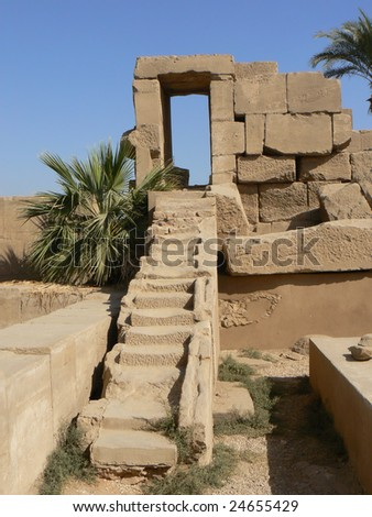 The Karnak temple pictured near Luxor in Egypt.