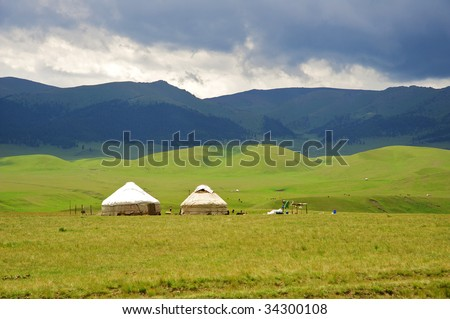 "The Kazakh dwelling in mountains ""Yurta"""