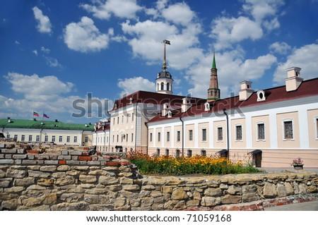 The Kazan Kremlin. A gun (Artillery) court yard