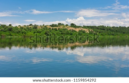The Kazinga Channel in the Queen Elizabeth National Park, Uganda