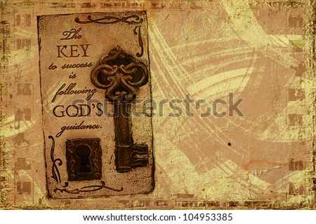 The Key to success Grunge Background