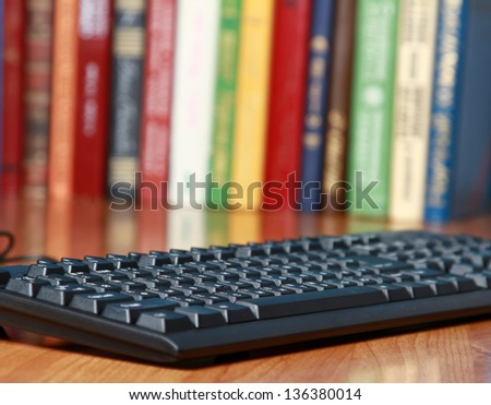 the keyboard on the desk