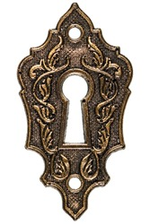 The keyhole, decorative design element, isolated on white background