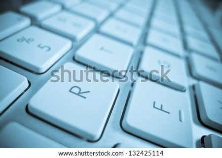 the keys of a computer in a close up. computer and internet.