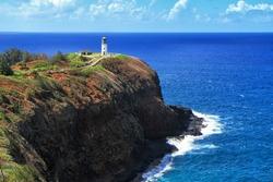 The Kilauea Point Lighthouse on Kauai is part of Hawaii's Kilauea Point National Wildlife Refuge.