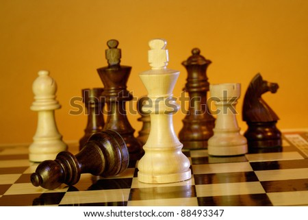 The king is checkmated, game of chess comes to an end