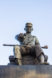 The king of thailand memorial on blue sky