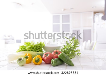 The kitchen counter vegetables #322898531