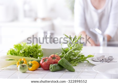 The kitchen counter vegetables #322898552