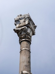 The Kiztasi or Markianos Column. A monument commemorating the Byzantine Emperor Markianos in Istanbul in 455. It is located in Fatih district of Istanbul