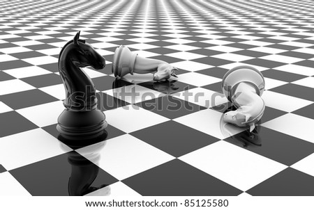 The knight chess piece