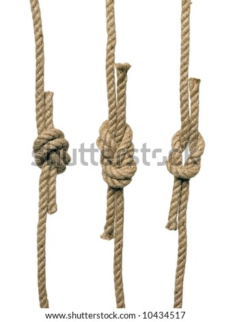 The knots on the white background (isolated). #10434517