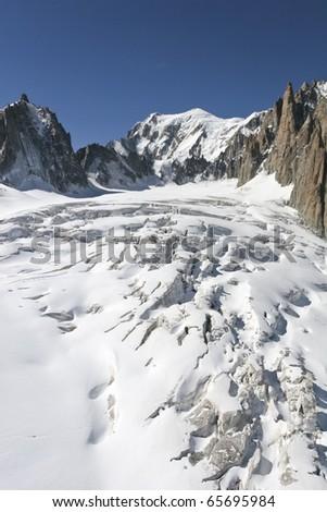 The l'Aiguille du Midi, Mont Blanc, Chamonix