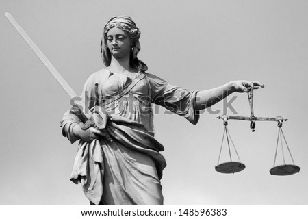 The Lady Justice Statue in Dublin, Ireland - stock photo