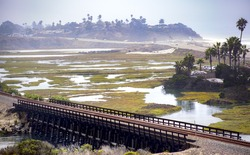 The lagoon is right near the coast of California taken in and around Carlsbad California
