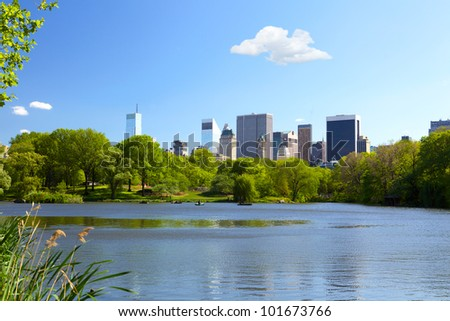 The Lake at Central Park in New York City