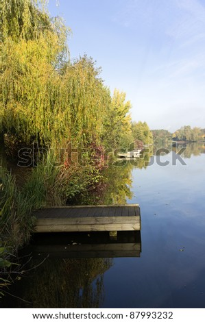 the lake at the arrow valley country park redditch worcestershire england uk