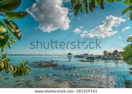 Shutterstock The lake is seven shades of blue in Bacalar.