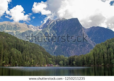The lake Piburg an idyllic mountain lake in the Ötztal has been elevated to a natural monument and belongs because of its rare plants and animals to the conservation area. #1250211235