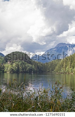 The lake Piburg an idyllic mountain lake in the Ötztal has been elevated to a natural monument and belongs because of its rare plants and animals to the conservation area. #1275690151