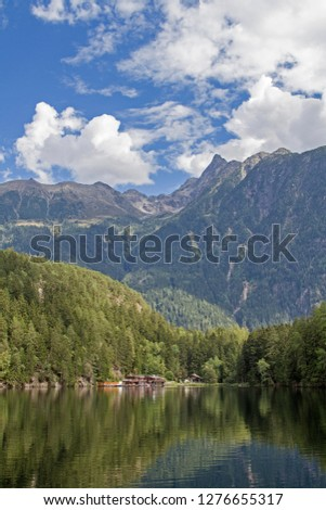 The lake Piburg an idyllic mountain lake in the Ötztal has been elevated to a natural monument and belongs because of its rare plants and animals to the conservation area. #1276655317