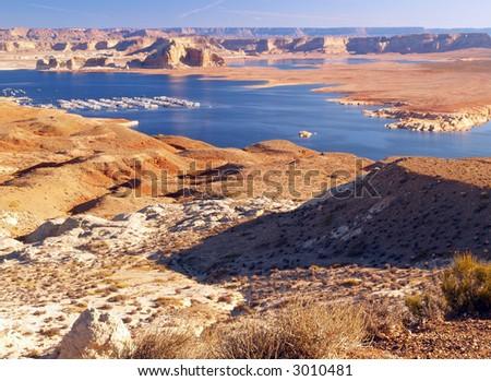 The Lake Powell in Glen Canyon Utah