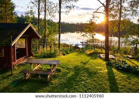 The lakes in Finland are a great place to spend the summer holidays with the whole family Stockfoto ©