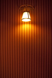 the lamp on the wall