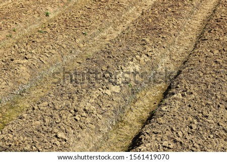The land  break ground by cultivating machine #1561419070