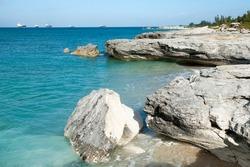 The land falling apart on Grand Bahama island eroded shore.