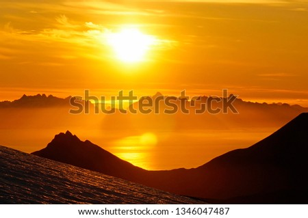 The Land of the Midnight Sun, Arctic Norway in Summer.                        #1346047487