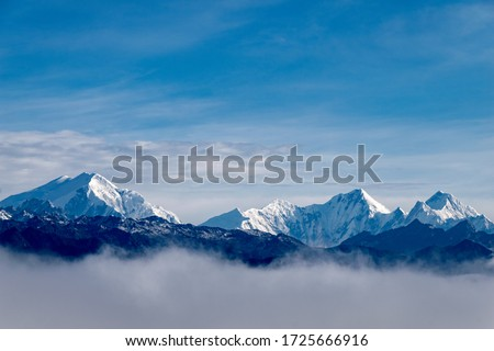 The Landscape and mountain of Himalayas of Arunachal Pradesh.