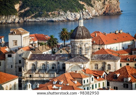 The landscape of Dubrovnik old town, Croatia