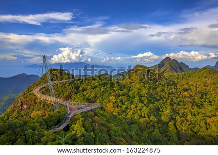 The landscape of Langkawi seen from Cable Car viewpoint #163224875