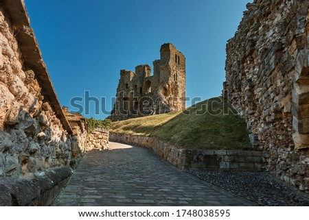 Photo of  The landscape of Scarborough Castle, a former medieval Royal fortress situated at Scarborough, North Yorkshire, England