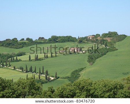 The landscape of the Val d'??Orcia. Tuscany. Italiy