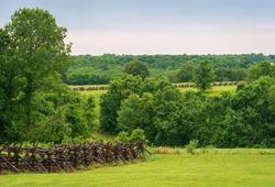 The Landscape of Wilson's Creek National Battlefield, in the Ozarks, Missouri