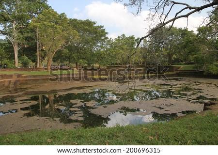 The landscaped grounds surrounding Sigiriya Rock, Sri Lanka.