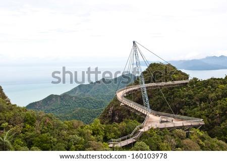 The Langkawi Sky Bridge in Langkawi Island, Malaysia