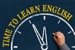 The language learning concept of Learn English for English Education.
