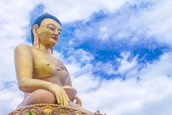 The Largest gilded Buddha in Thimphu, Bhutan