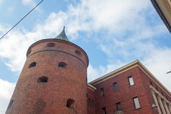 The largest military history museum in Latvia, located in the Powder Tower, which has cylinder shape and used by military or mining companies to store gunpowder or explosives, in Old Riga, Latvia