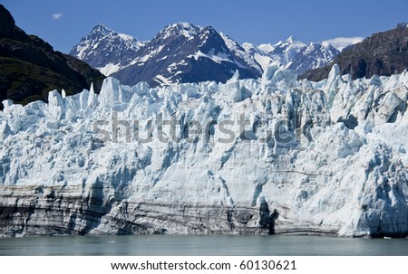 The Largest Remaining Glaciers Can Only Be Seen by Ship in Glacier Bay, Alaska - stock photo