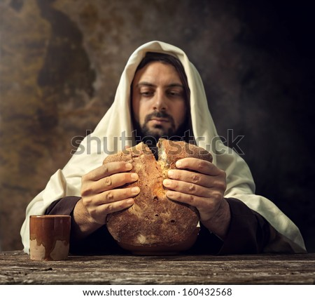The Last Supper Jesus breaks the bread