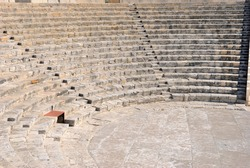 The late-second century BC Greco-Roman theatre (amphitheatre) at the Neolithic period Kourion Ancient city on the southwestern coast of Cyprus