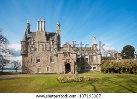 The Lauriston Castle From Edinburgh, Scotland (Front view)