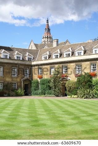 The lawn in Christ's College, Cambridge University