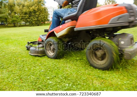 the lawn mower tractor #723340687